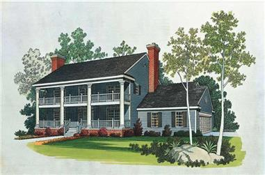 4-Bedroom, 2928 Sq Ft Colonial Home Plan - 137-1459 - Main Exterior