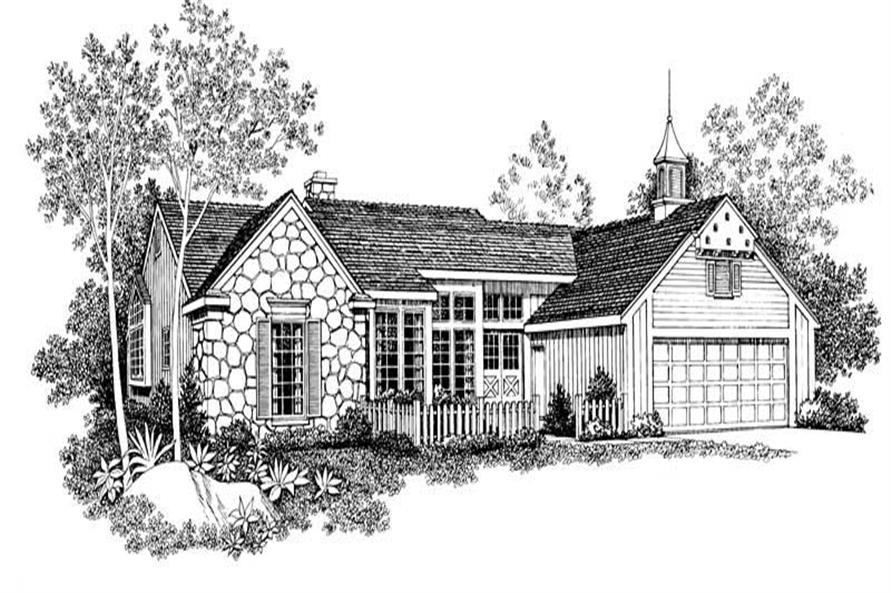 3-Bedroom, 2022 Sq Ft Country Home Plan - 137-1460 - Main Exterior