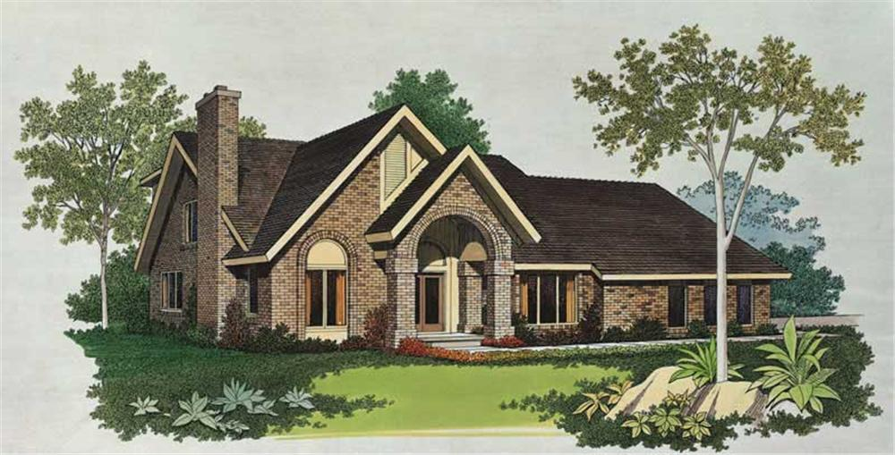 Contemporary home (ThePlanCollection: Plan #137-1461)