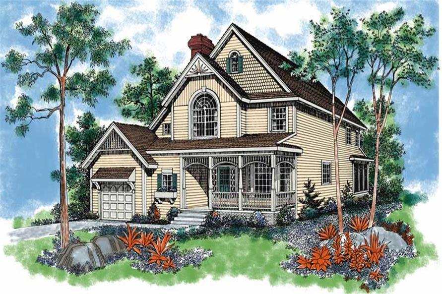 3-Bedroom, 1772 Sq Ft Victorian Home Plan - 137-1463 - Main Exterior