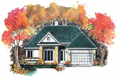 3-Bedroom, 1699 Sq Ft Ranch House Plan - 137-1464 - Front Exterior