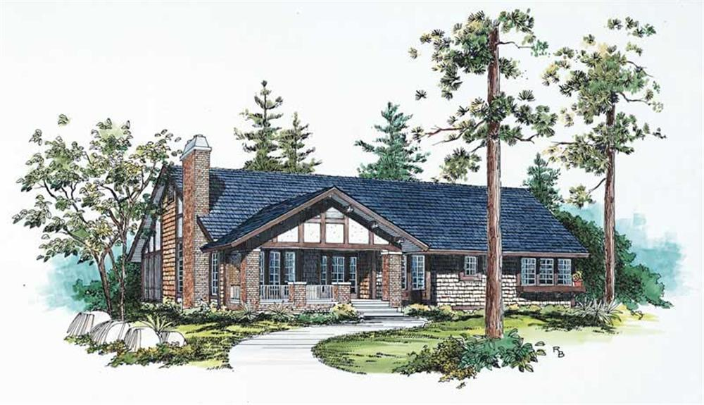 Ranch home (ThePlanCollection: Plan #137-1467)