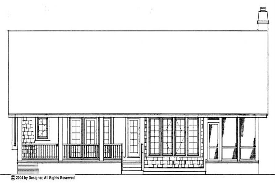 Home Plan Rear Elevation of this 3-Bedroom,1951 Sq Ft Plan -137-1467