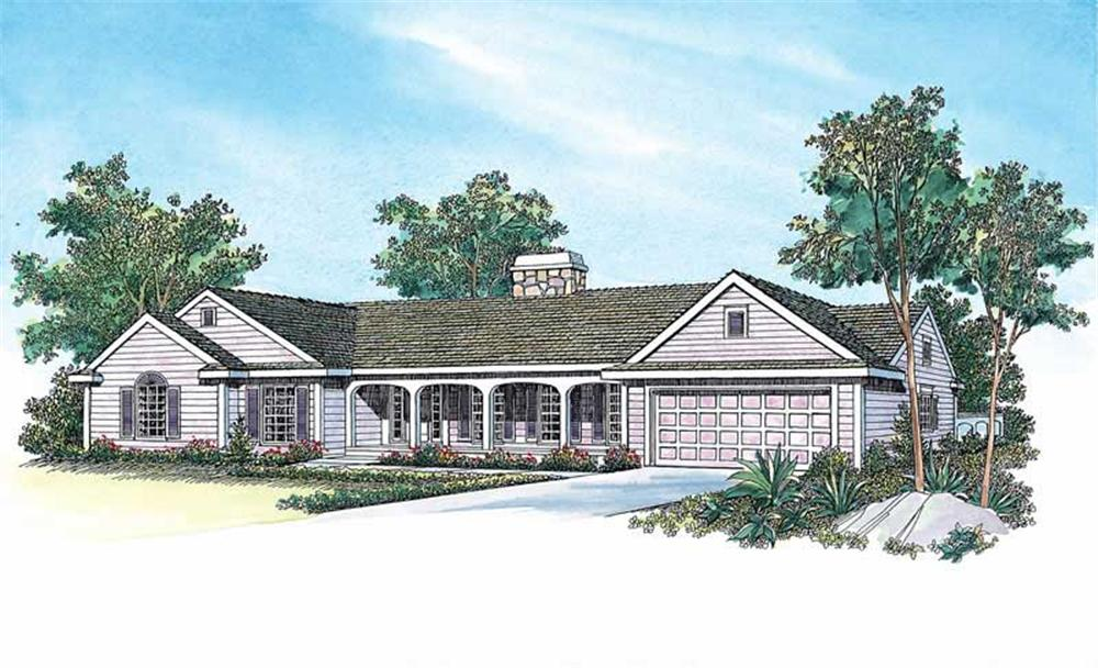 Ranch home (ThePlanCollection: Plan #137-1472)
