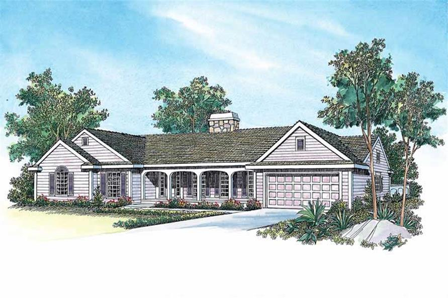 3-Bedroom, 2203 Sq Ft Ranch Home Plan - 137-1472 - Main Exterior