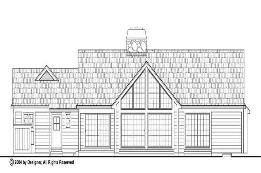 Home Plan Rear Elevation of this 3-Bedroom,2203 Sq Ft Plan -137-1472
