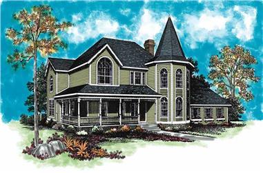 4-Bedroom, 2496 Sq Ft Victorian Home Plan - 137-1474 - Main Exterior