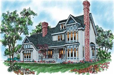 4-Bedroom, 3264 Sq Ft Victorian Home Plan - 137-1475 - Main Exterior