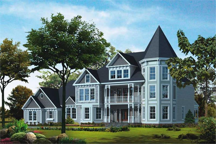 4-Bedroom, 5224 Sq Ft Victorian House Plan - 137-1476 - Front Exterior