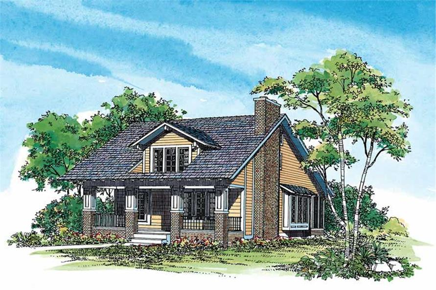 3-Bedroom, 1997 Sq Ft Craftsman House Plan - 137-1478 - Front Exterior