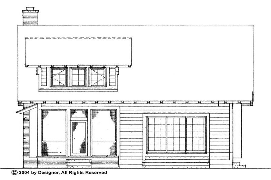 Home Plan Rear Elevation of this 3-Bedroom,1997 Sq Ft Plan -137-1478
