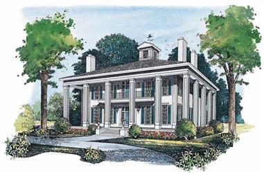 4-Bedroom, 3754 Sq Ft Historic Home Plan - 137-1480 - Main Exterior