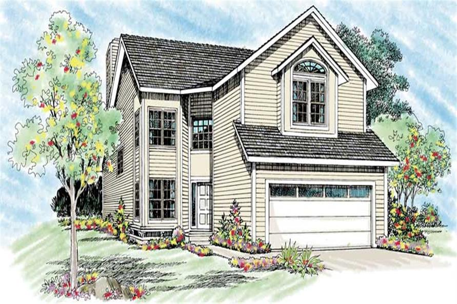 3-Bedroom, 2087 Sq Ft Colonial House Plan - 137-1483 - Front Exterior