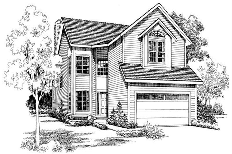 Home Plan Front Elevation of this 3-Bedroom,2087 Sq Ft Plan -137-1483