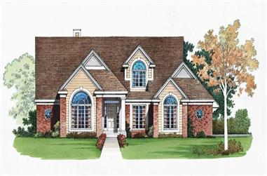 4-Bedroom, 2342 Sq Ft Traditional House Plan - 137-1485 - Front Exterior