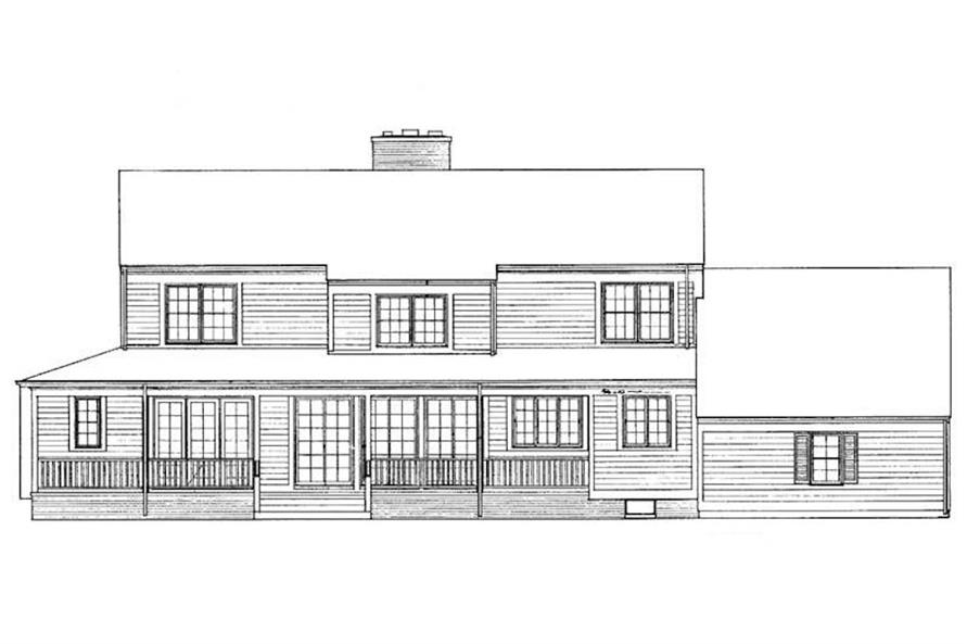 Home Plan Rear Elevation of this 4-Bedroom,3096 Sq Ft Plan -137-1490