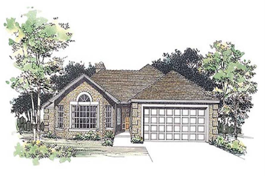 2-Bedroom, 1560 Sq Ft Country Home Plan - 137-1496 - Main Exterior