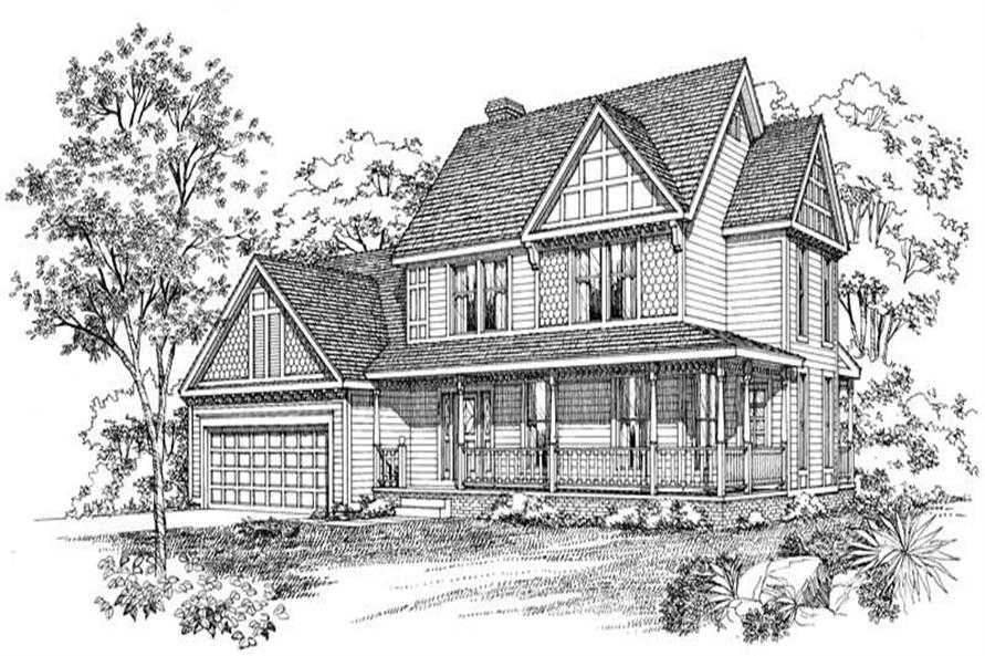 FRONT RENDERING of this 4-Bedroom,1996 Sq Ft Plan -1996