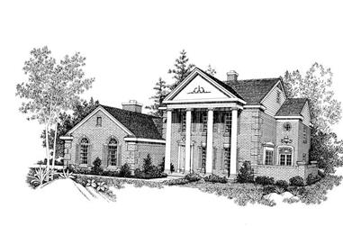 4-Bedroom, 2474 Sq Ft Colonial Home Plan - 137-1499 - Main Exterior