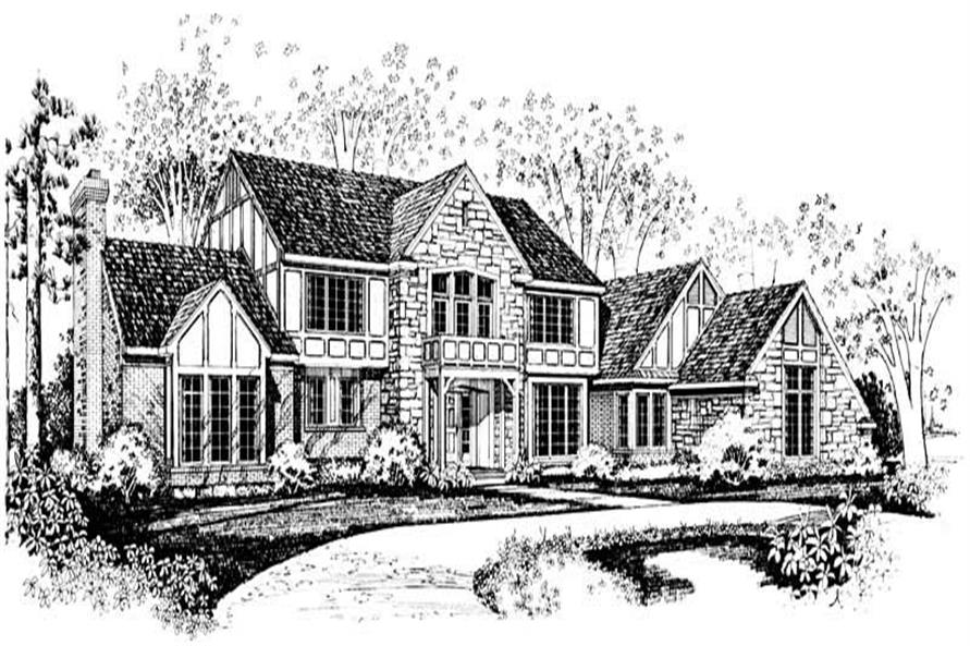 4-Bedroom, 4039 Sq Ft European House Plan - 137-1505 - Front Exterior