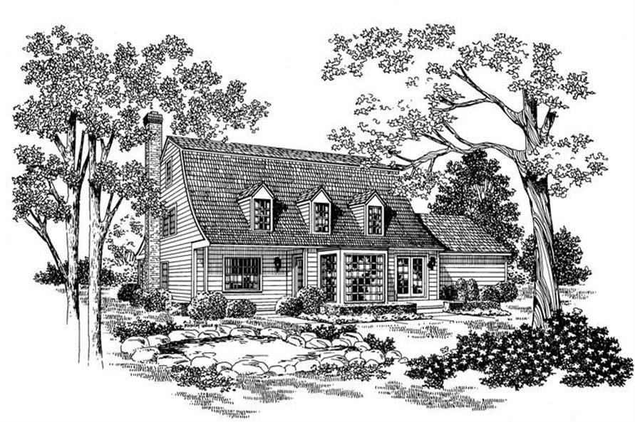 Home Plan Rear Elevation of this 3-Bedroom,2533 Sq Ft Plan -137-1508