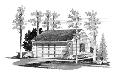1-Bedroom, 528 Sq Ft Garage House Plan - 137-1511 - Front Exterior