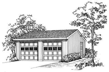 0-Bedroom, 50 Sq Ft Garage Home Plan - 137-1516 - Main Exterior
