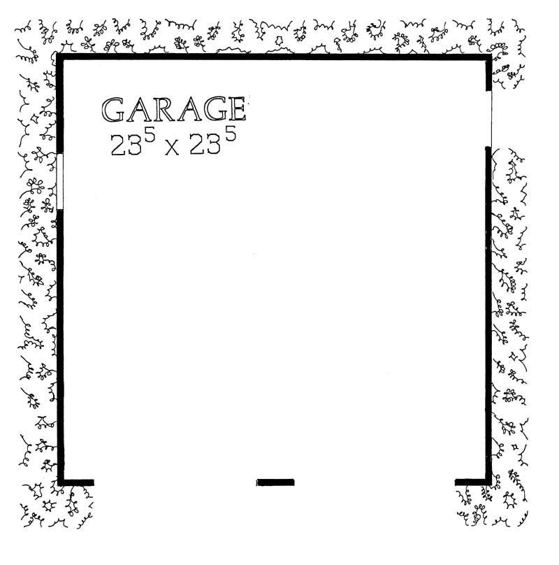 Garage With 2 Car 0 Bedrm 552 Sq Ft Plan 137 1516