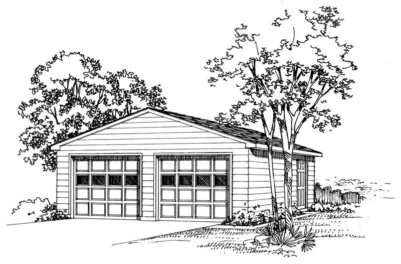 Colonial With 2 Car 0 Bedrm 768 Sq Ft Plan 137 1517