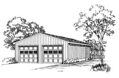 0-Bedroom, 50 Sq Ft Garage Home Plan - 137-1518 - Main Exterior