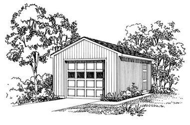 1-Bedroom, 320 Sq Ft Garage Home Plan - 137-1519 - Main Exterior