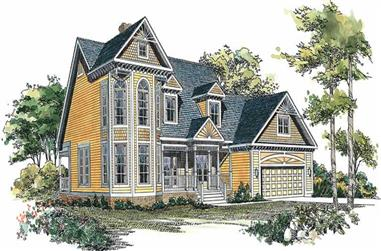 3-Bedroom, 2522 Sq Ft Victorian House Plan - 137-1520 - Front Exterior