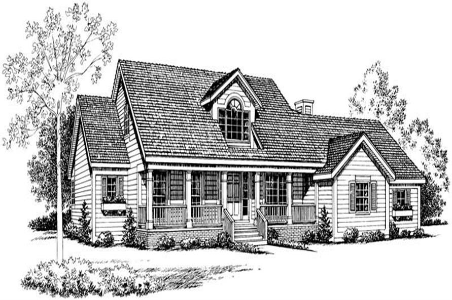 Home Plan Rendering of this 4-Bedroom,2002 Sq Ft Plan -137-1521