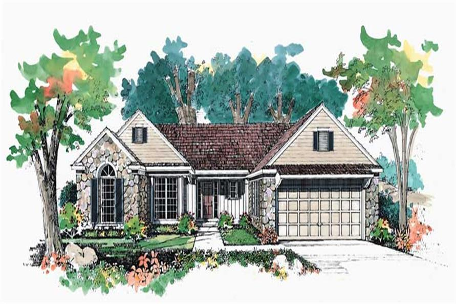 3-Bedroom, 1999 Sq Ft European Home Plan - 137-1524 - Main Exterior