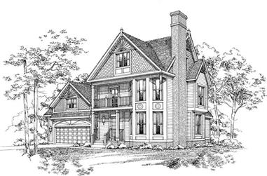3-Bedroom, 2484 Sq Ft Victorian House Plan - 137-1525 - Front Exterior