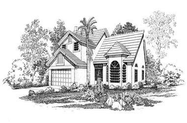 4-Bedroom, 2751 Sq Ft Mediterranean House Plan - 137-1526 - Front Exterior