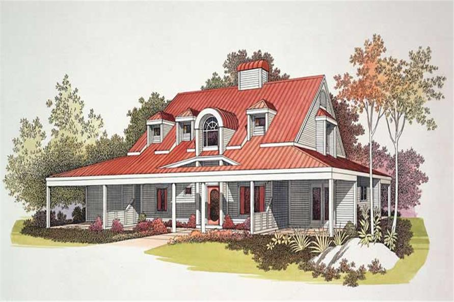 Home Plan Rendering of this 3-Bedroom,2230 Sq Ft Plan -137-1527