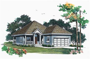 2-Bedroom, 1273 Sq Ft Bungalow House Plan - 137-1529 - Front Exterior