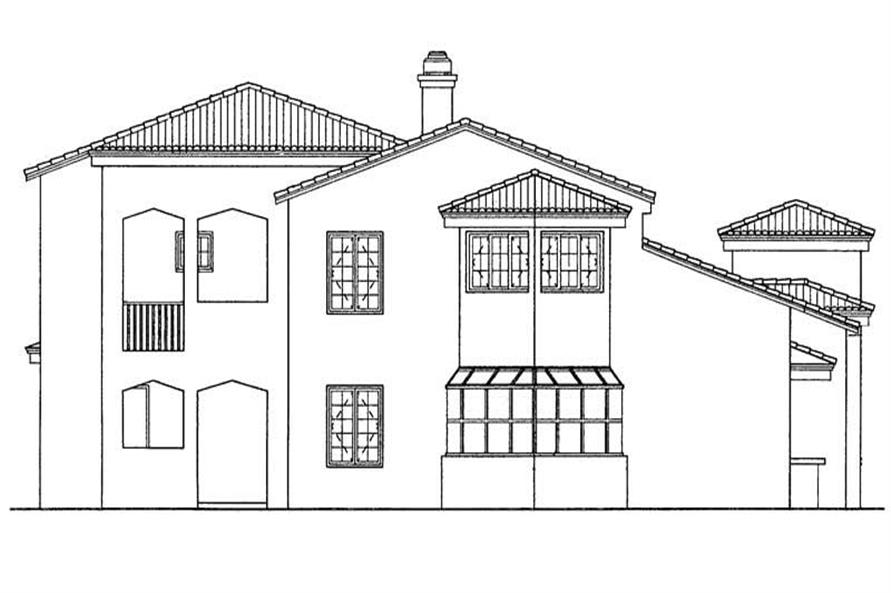 Home Plan Rear Elevation of this 3-Bedroom,2522 Sq Ft Plan -137-1530