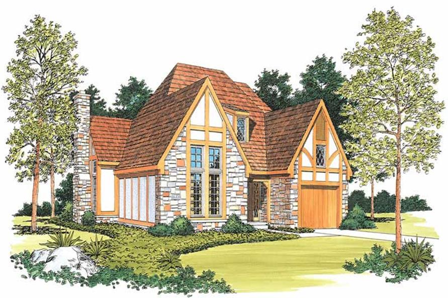 3-Bedroom, 1868 Sq Ft European Home Plan - 137-1531 - Main Exterior