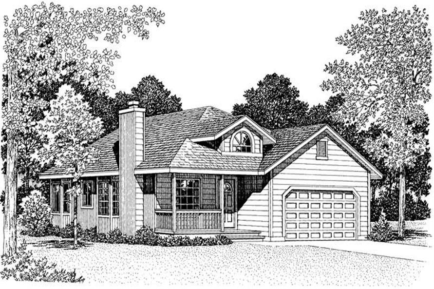 FRONT RENDERING of this 3-Bedroom,1389 Sq Ft Plan -1389