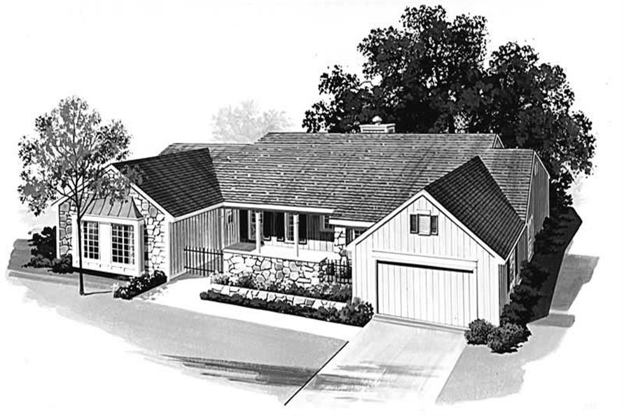 4-Bedroom, 2388 Sq Ft Country Home Plan - 137-1534 - Main Exterior