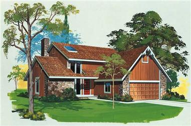 3-Bedroom, 1961 Sq Ft Contemporary House Plan - 137-1535 - Front Exterior