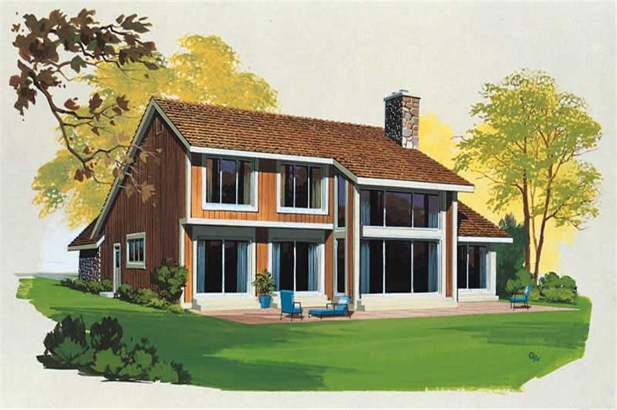 REAR RENDERING of this 3-Bedroom,1961 Sq Ft Plan -1961