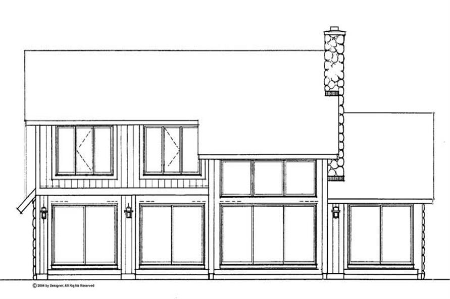 Home Plan Rear Elevation of this 3-Bedroom,1961 Sq Ft Plan -137-1535