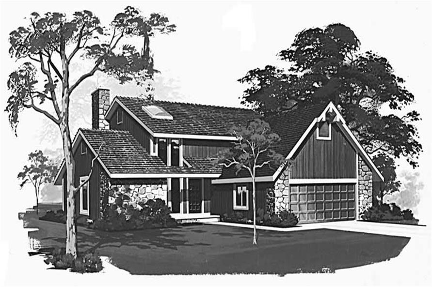 FRONT RENDERING of this 3-Bedroom,1961 Sq Ft Plan -1961