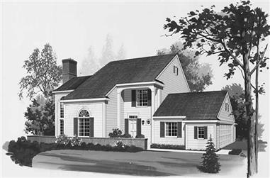 2-Bedroom, 1988 Sq Ft Contemporary House Plan - 137-1536 - Front Exterior