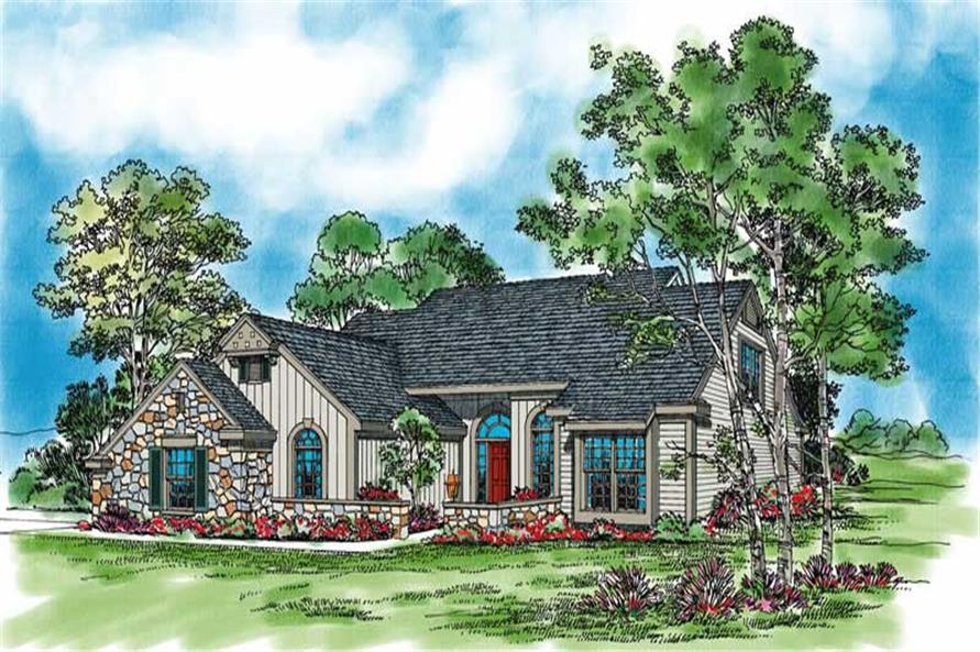 3-Bedroom, 2129 Sq Ft Country Home Plan - 137-1538 - Main Exterior