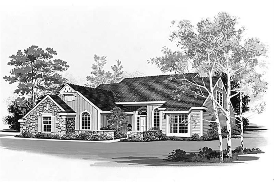 Home Plan Rendering of this 3-Bedroom,2129 Sq Ft Plan -137-1538