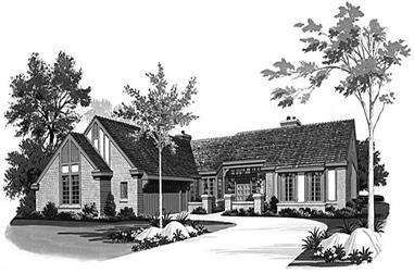 3-Bedroom, 2919 Sq Ft Ranch Home Plan - 137-1539 - Main Exterior